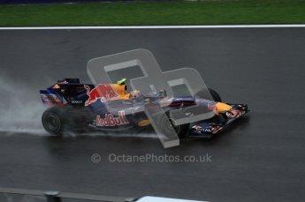 © Octane Photographic 2010. 2010 F1 Belgian Grand Prix, Friday August 27th 2010. Red Bull RB6 - Mark Webber. Digital Ref : 0030LW7D9877