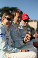 2010 Le Mans 24 Hour (24 Heures du Mans), 11th June 2010. Drivers' parade. Aston Martin Racing - Adrian Fernandez, Harold Primat, Stefan Mucke. Digital ref : CB1D2498
