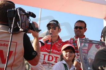 2010 Le Mans 24 Hour (24 Heures du Mans), 11th June 2010. Drivers' parade. Kolles - Christophe Bouchut, Manuel Rodriguez. Digital ref : LW40D2661