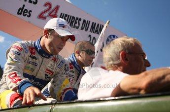 2010 Le Mans 24 Hour (24 Heures du Mans), 11th June 2010. Drivers' parade. Team Oreca Matmut - Loic Duval, Olivier Panis. Digital ref : LW40D2961