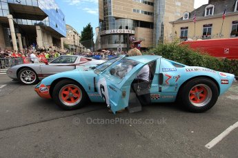 2010 Le Mans 24 Hour (24 Heures du Mans), 11th June 2010. GT40 Mk.I replica. Drivers' parade. Digital ref : CB5D3144