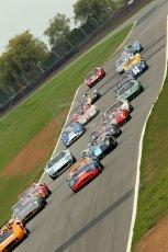 © Octane Photographic Ltd. 2010 Masters Racing - Donington September 4th 2010. Sports Racing Masters rolling start. Digital Ref : cb1d3470