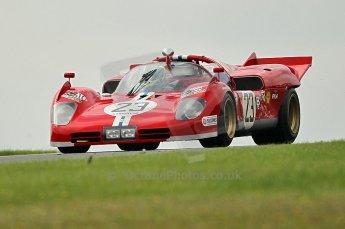 © Octane Photographic Ltd. 2010 Masters Racing - Donington September 5th 2010. Demo runs - Ferari 512S. Digital Ref : cb1d4396