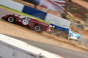 © Octane Photographic Ltd. 2010 Masters Racing - Donington September 4th 2010. World Sportscar Masters. Lola T70 Mk.3b - Justin Maeers, Taydec Mk.3 - Andrew Middleton. Digital Ref :CB7D5121