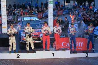© North One Sport Limited 2010/ Octane Photographic Ltd. 2010 WRC Great Britain Podium, Sunday 14th November 2010. Digital ref : 0114LW1D1631
