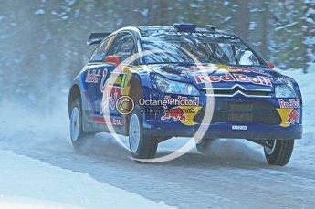 © North One Sport Ltd.2010 / Octane Photographic Ltd.2010. WRC Sweden SS9. February 13th 2010, Kimi Raikkonen/Kaj Lindstrom, Citroen C4 WRC. Digital Ref : 0133CB1D1949