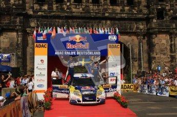 © North One Sport Ltd. 2010 / Octane Photographic Ltd. 2010 WRC Germany Podium, 23st August 2010. Digital Ref: 0212lw7d8398