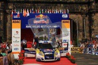 © North One Sport Ltd. 2010 / Octane Photographic Ltd. 2010 WRC Germany Podium, 23st August 2010. Digital Ref: 0212lw7d8411