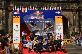 © North One Sport Ltd. 2010 / Octane Photographic Ltd. 2010 WRC Germany Podium, 23st August 2010. Digital Ref: 0212lw7d8456