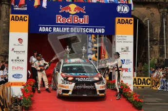 © North One Sport Ltd. 2010 / Octane Photographic Ltd. 2010 WRC Germany Podium, 23st August 2010. Digital Ref: 0212lw7d8507