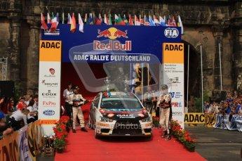 © North One Sport Ltd. 2010 / Octane Photographic Ltd. 2010 WRC Germany Podium, 23st August 2010. Digital Ref: 0212lw7d8510