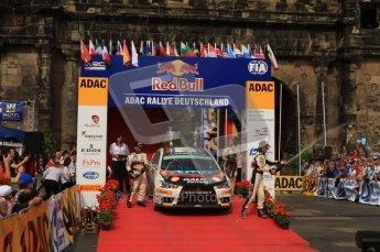 © North One Sport Ltd. 2010 / Octane Photographic Ltd. 2010 WRC Germany Podium, 23st August 2010. Digital Ref: 0212lw7d8515