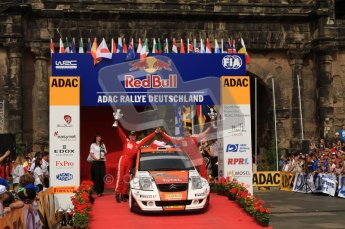 © North One Sport Ltd. 2010 / Octane Photographic Ltd. 2010 WRC Germany Podium, 23st August 2010. Digital Ref: 0212lw7d8579