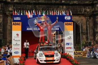 © North One Sport Ltd. 2010 / Octane Photographic Ltd. 2010 WRC Germany Podium, 23st August 2010. Digital Ref: 0212lw7d8605