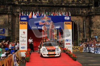 © North One Sport Ltd. 2010 / Octane Photographic Ltd. 2010 WRC Germany Podium, 23st August 2010. Digital Ref: 0212lw7d8619