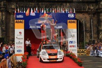 © North One Sport Ltd. 2010 / Octane Photographic Ltd. 2010 WRC Germany Podium, 23st August 2010. Digital Ref: 0212lw7d8625