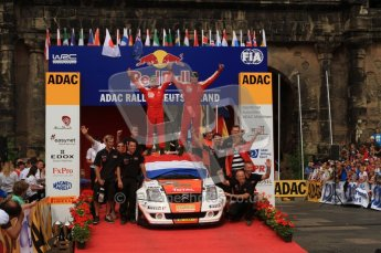 © North One Sport Ltd. 2010 / Octane Photographic Ltd. 2010 WRC Germany Podium, 23st August 2010. Digital Ref: 0212lw7d8669