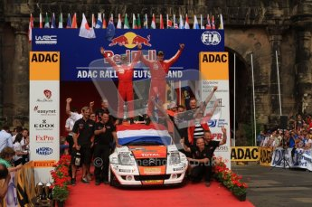 © North One Sport Ltd. 2010 / Octane Photographic Ltd. 2010 WRC Germany Podium, 23st August 2010. Digital Ref: 0212lw7d8672