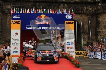© North One Sport Ltd. 2010 / Octane Photographic Ltd. 2010 WRC Germany Podium, 23st August 2010. Digital Ref: 0212lw7d8757