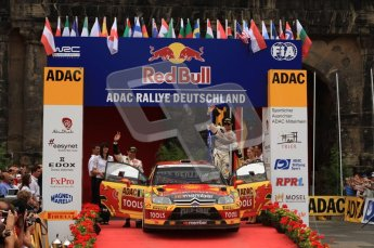 © North One Sport Ltd. 2010 / Octane Photographic Ltd. 2010 WRC Germany Podium, 23st August 2010. Digital Ref: 0212lw7d8858