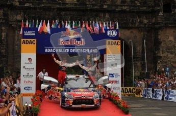 © North One Sport Ltd. 2010 / Octane Photographic Ltd. 2010 WRC Germany Podium, 23st August 2010. Digital Ref: 0212lw7d9070