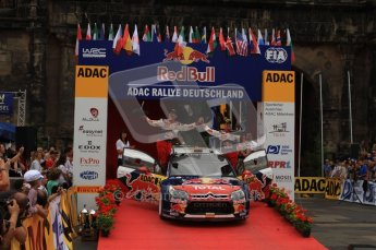 © North One Sport Ltd. 2010 / Octane Photographic Ltd. 2010 WRC Germany Podium, 23st August 2010. Digital Ref: 0212lw7d9078