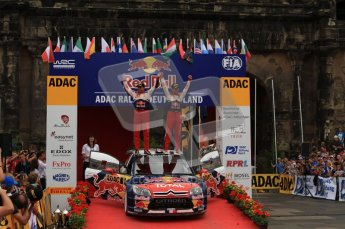 © North One Sport Ltd. 2010 / Octane Photographic Ltd. 2010 WRC Germany Podium, 23st August 2010. Digital Ref: 0212lw7d9143