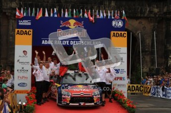 © North One Sport Ltd. 2010 / Octane Photographic Ltd. 2010 WRC Germany Podium, 23st August 2010. Digital Ref: 0212lw7d9267