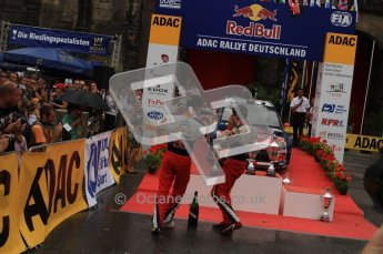 © North One Sport Ltd. 2010 / Octane Photographic Ltd. 2010 WRC Germany Podium, 23st August 2010. Digital Ref: 0212lw7d9386