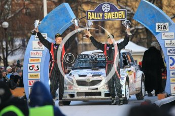 © North One Sport Ltd.2010 / Octane Photographic Ltd.2010. WRC Sweden Podium, February 14th 2010. Digital Ref : 0138CB1D3008