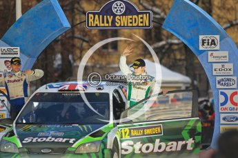 © North One Sport Ltd.2010 / Octane Photographic Ltd.2010. WRC Sweden Podium, February 14th 2010. Digital Ref : 0138CB1D3072