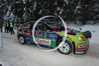 © North One Sport Ltd.2010 / Octane Photographic Ltd.2010. WRC Sweden shakedown stage. February 11th 2010. Digital Ref : 0129CB1D1193