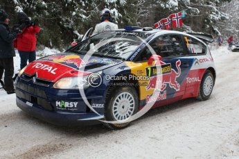 © North One Sport Ltd.2010 / Octane Photographic Ltd.2010. WRC Sweden shakedown stage. February 11th 2010. Digital Ref : 0129CB1D1210