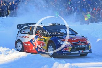 © North One Sport Ltd.2010 / Octane Photographic Ltd.2010. WRC Sweden SS12. February 13th 2010, Sebastien Loeb/Daniel Elena, Citroen C4 WRC. Digital Ref : 0134CB1D2100