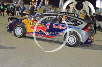 © North One Sport Ltd.2010 / Octane Photographic Ltd.2010. WRC Sweden SS1 Karlstad Stadium. February 11th 2010, Kimi Raikkonen/Kaj Lindstrom, Citroen C4 WRC. Digital Ref : 0131CB1D1424