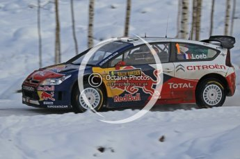 © North One Sport Ltd.2010 / Octane Photographic Ltd.2010. WRC Sweden SS21 February 14th 2010, Sebastien Loeb/Daniel Elena, Citroen C4 WRC. Digital Ref : 0137CB1D2951