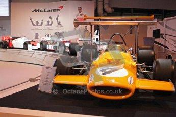 © Octane Photographic Ltd. Autosport International 2011, January 13th 2011. McLaren Display, M7C, Historic F1. Digital ref : 0045CB1D5203