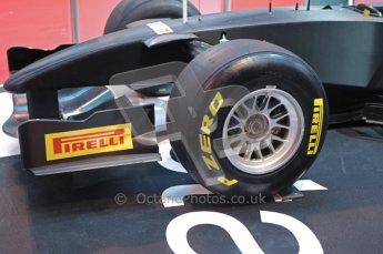 © Octane Photographic Ltd. Autosport International 2011, January 13th 2011. Pirelli F1 tyres. Digital ref : 0045CB1D5203