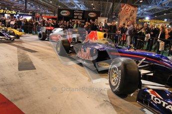 © Octane Photographic Ltd. Autosport International 2011, January 15th 2011. F1 Racing display, Red bull showcar. Digital ref : 0045CB7D2851