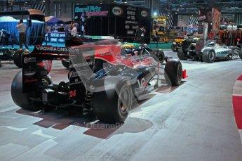 © Octane Photographic Ltd. Autosport International 2011, January 15th 2011. F1 Racing display, Virgin racing showcar. Digital ref : 0045f1-display-4