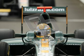 © Octane Photographic Ltd. 2011. Belgian Formula 1 GP, GP2 Race 2 - Sunday 28th August 2011. Luiz Razia, of Caterham Racing AirAisa heading out pits to line up on starting grid. Digital Ref : 0205cb1d0045
