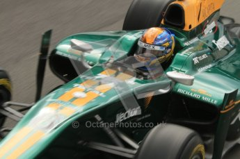 © Octane Photographic Ltd. 2011. Belgian Formula 1 GP, GP2 Race 2 - Sunday 28th August 2011. Lotus ART driver Esteban Gutierrez cockpit shot as he needs out of the pit. Digital Ref : 0205lw7d6848