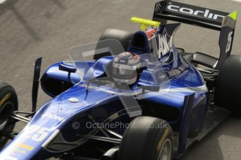 © Octane Photographic Ltd. 2011. Belgian Formula 1 GP, GP2 Race 2 - Sunday 28th August 2011. Carlin driver, Oliver Turvey overhead cockpit shot as drives out of the pits.  Digital Ref : 0205lw7d6888