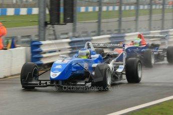 © Octane Photographic 2011 – British Formula 3 - Donington Park - Race 2. 25th September 2011, Carlos Heurtas - Carlin - Dallara F308 Volkswagen. Digital Ref : 0186lw1d6474