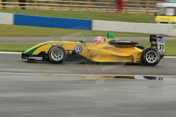 © Octane Photographic 2011 – British Formula 3 - Donington Park - Race 2. 25th September 2011, Felipe Nasr - Carlin - Dallara F308 Volkwagen. Digital Ref :