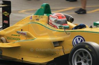 © Octane Photographic 2011 – British Formula 3 - Donington Park - Race 2. 25th September 2011, Felipe Nasr - Carlin - Dallara F308 Volkwagen. Digital Ref : 0186lw1d7180