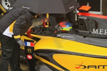 World © Octane Photographic Ltd. 2011. British GP, Silverstone, Saturday 9th July 2011. GP2 Practice Session Pit Lane. Romain Grosjean - DAMS Digital Ref: 0108LW7D5791