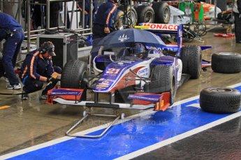 World © Octane Photographic Ltd. 2011. British GP, Silverstone, Saturday 9th July 2011. GP2 Practice Session Pit Lane. Stefano Coletti - Trident Racing Digital Ref: 0108LW7D5802