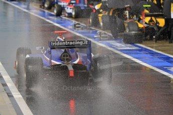 World © Octane Photographic Ltd. 2011. British GP, Silverstone, Saturday 9th July 2011. GP2 Practice Session Pit Lane. Stefano Coletti - Trident Racing Digital Ref: 0108LW7D5807