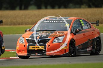 © Octane Photographic Ltd. 2011. British Touring Car Championship – Snetterton 300, Frank Wrathall, Toyota Avensis - Dynojet. Sunday 7th August 2011. Digital Ref : 0124CB1D4256